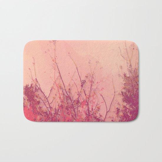 Lost in Pink (Carmine Pink Botanic Garden) Bath Mat
