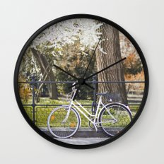 The bike and the spring. Wall Clock