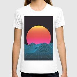 Computer sundown T-shirt