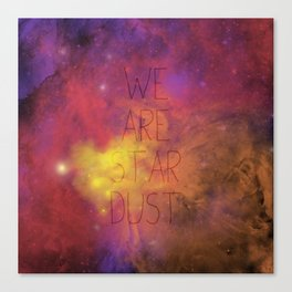 Nebula (Text) Canvas Print