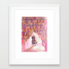 Honeycomb Wanderer Framed Art Print