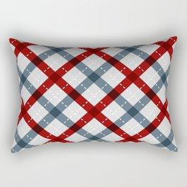 Colorful Geometric Strips Pattern - Kitchen Napkin Style Rectangular Pillow