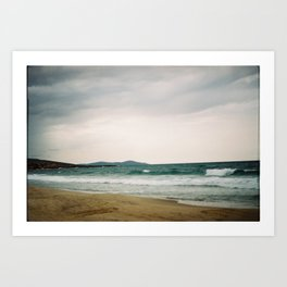 Stormy day on the beach Art Print