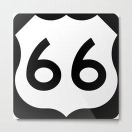 U.S. Route 66 Shield  Metal Print