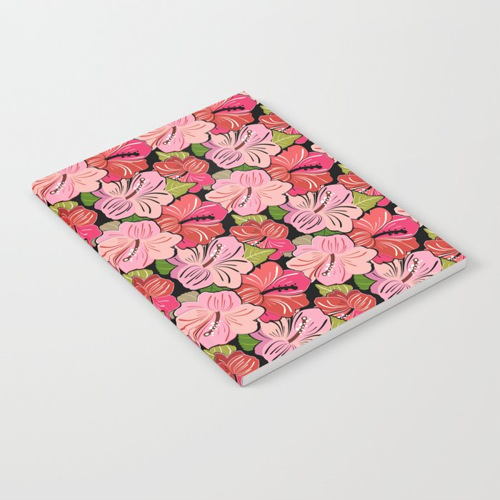 Pink Hibiscus Floral Pattern Notebook