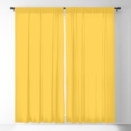 From The Crayon Box – Sunglow Yellow Orange - Bright Orange Solid Color Blackout Curtain