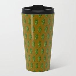 Hops Dark Orange Pattern Travel Mug