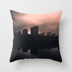 Sleeping in the dark Throw Pillow