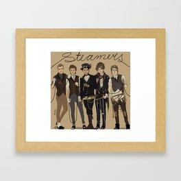 """""""Steamers"""" Framed Art Print"""