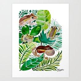 Frogs Art Print
