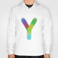 letter Hoodies featuring Letter Y by David Zydd