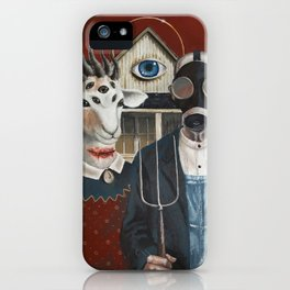 Amerikan Gothique iPhone Case