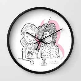 Girls Chilling Wall Clock