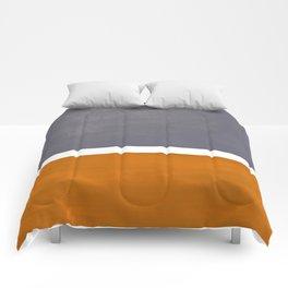 Grey Yellow Ochre Rothko Minimalist Mid Century Abstract Color Field Squares Comforters