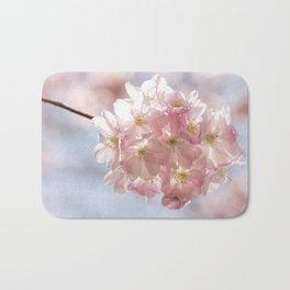 Branch of Cherry Blossom - Pink flowers Bath Mat