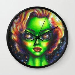 Iconic Alien Women: Marilyn Wall Clock