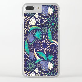 Tropical fireworks Clear iPhone Case