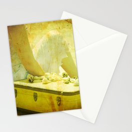 She Sells Seashells I seashells, tall tales, she sells seashells, nursery, rhyme, yellow, brown, gol Stationery Cards