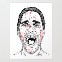 american psycho Art Prints featuring American Psycho. by Saul Art