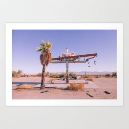Abandoned Gas Station Art Print