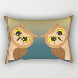 Night Owls Rectangular Pillow