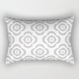 flowers in gray Rectangular Pillow