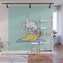 AcroYoga French Bulldog Wall Mural