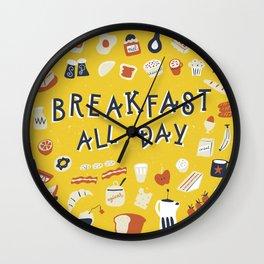 Breakfast all day Wall Clock