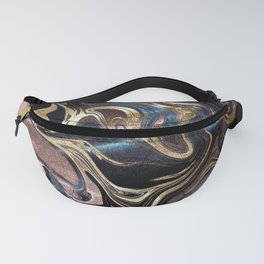 Liquid Gold Marble Fanny Pack