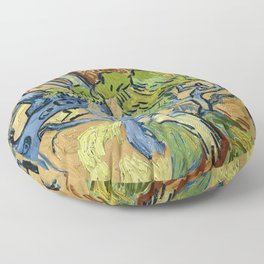 Tree Roots by Vincent van Gogh (July 1890) Floor Pillow