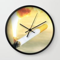 astronomy Wall Clocks featuring New Astronomy by Ventral Is Golden