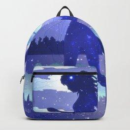 She Dances in Blue Backpack
