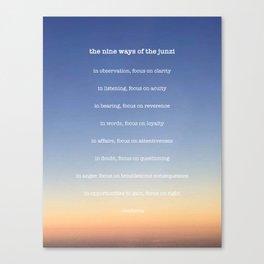 the nine ways of the junzi Canvas Print