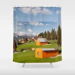 Bucolic view in Koscielisko village Shower Curtain