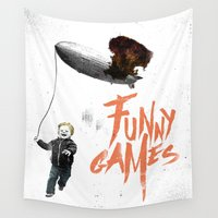 games Wall Tapestries featuring Funny Games by inbloom design