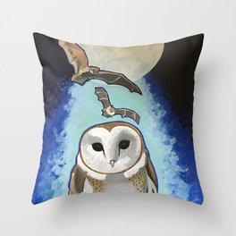 Night Guardians Throw Pillow