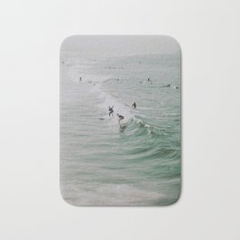 lets surf iv / venice beach, california Bath Mat