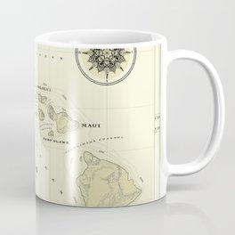 Hawaiian Islands [vintage inspired] map print Coffee Mug
