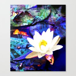Electrifying Lotus Canvas Print