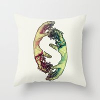 lovers Throw Pillows featuring Lovers by FalcaoLucas