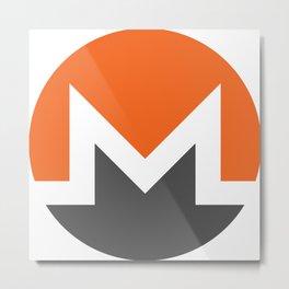 Monero XMR Crypto Currency Metal Print