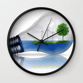 Eco Energy Concept Wall Clock