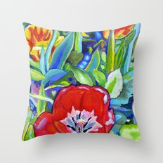 Poppy and Rose Dream Throw Pillow