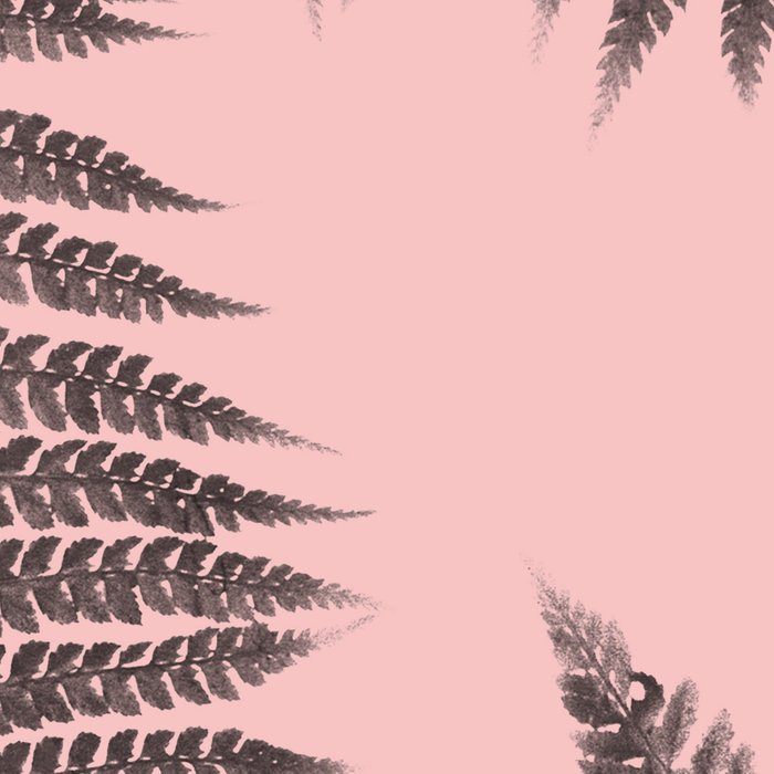 Ferns on Pink Leggings