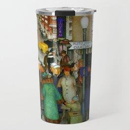 Coit Tower San Francisco City Scene Mural Travel Mug