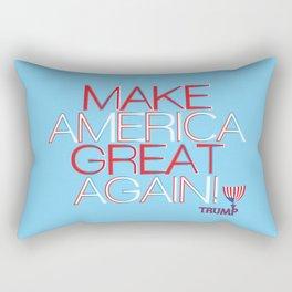 Make America Great Again w/ Trump Trumpet & Flag logo. Rectangular Pillow
