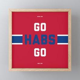 Go Habs Go Framed Mini Art Print