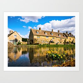 Lower Slaughter (The Cotswolds) Art Print