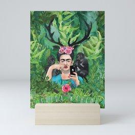 Frida and Her Monkey Mini Art Print