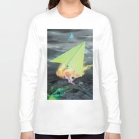 planes Long Sleeve T-shirts featuring Paper planes by VikaValter